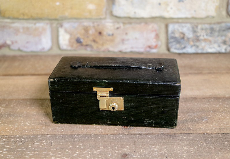 Green Leather Jewellery Box c.1920 SOLD