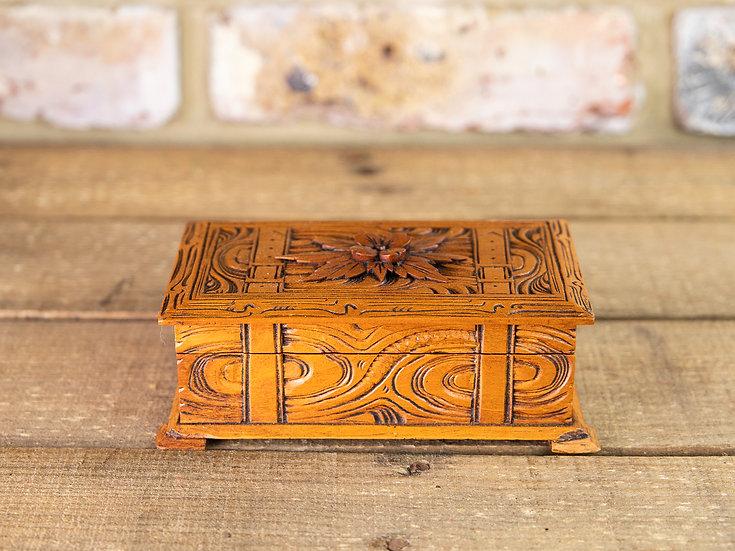 Carved Trinket Box 1930's SOLD