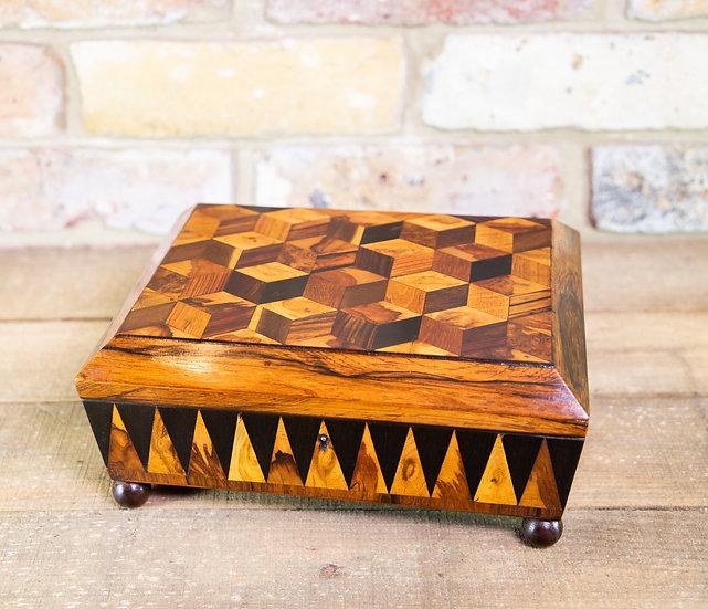 Rare Tunbridge Ware Sewing Box c.1870 SOLD