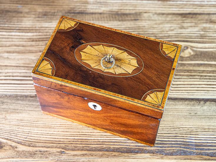 Georgian Mahogany Tea Caddy 1820 SOLD