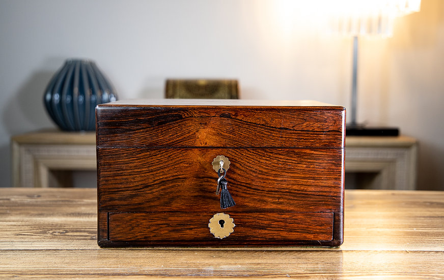 Victorian Rosewood Table Box 1840
