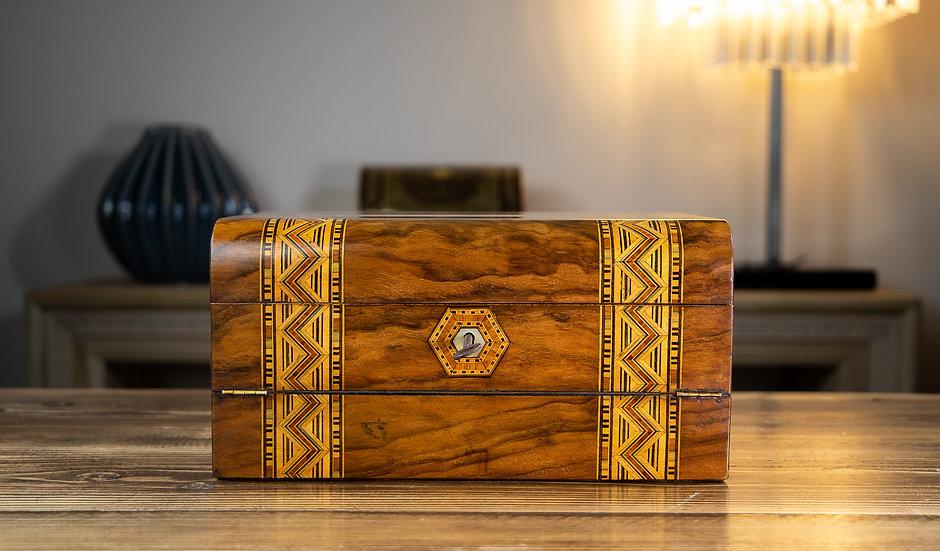 Dual Purpose Tunbridge Ware Box 1890