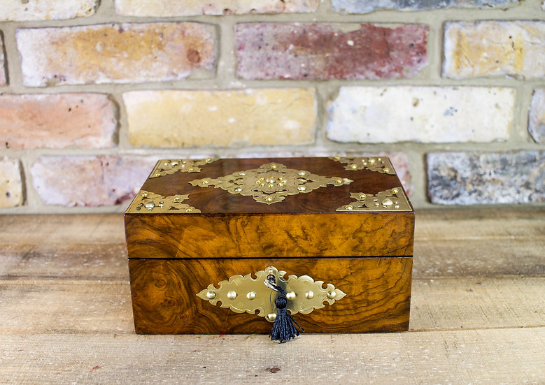 Burr Walnut Jewellery Box c.1880 SOLD