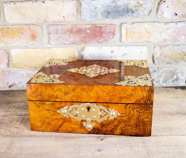 Burr Walnut Table Box c.1870 SOLD