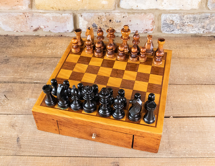 Chess Box Fully Complete 1920's SOLD