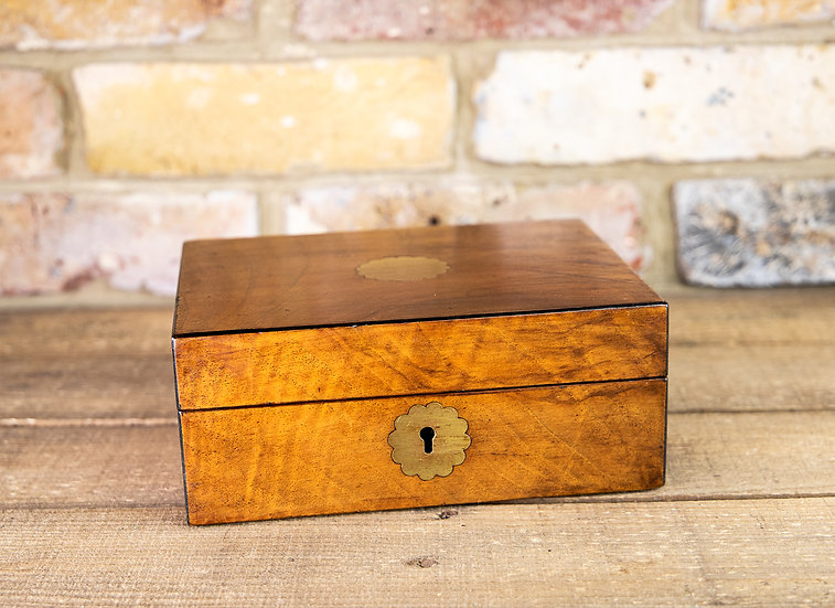 Figured Walnut Table Box 1880 SOLD