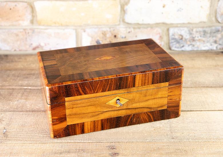 Burr Walnut & Rosewood Table Box 1890 SOLD