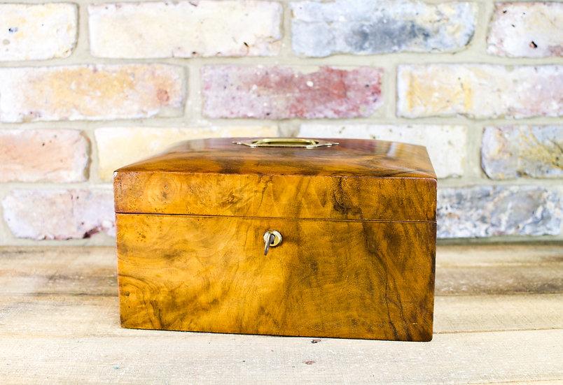Figured Walnut Table Box c.1890 SOLD
