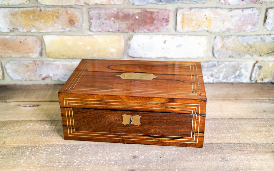 Rosewood & Brass Table Box Regency c.1820 SOLD