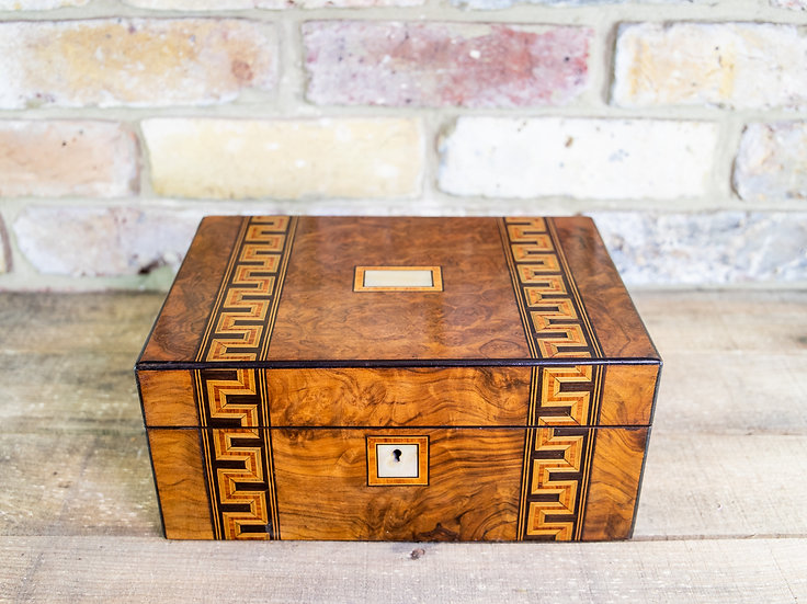 Burr Walnut Sewing Box c.1880 SOLD