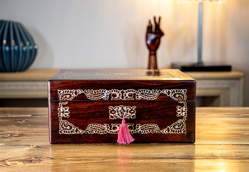 MOP Rosewood and Sewing/Jewellery Box 1840 SOLD