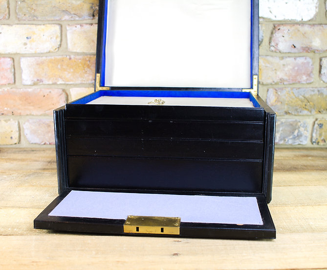 Collectors Leather Jewellery Box c.1900 SOLD