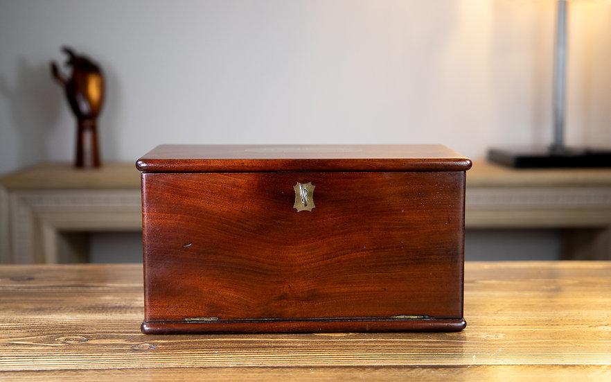 Solid Mahogany Drop Front Georgian Box 1800 SOLD