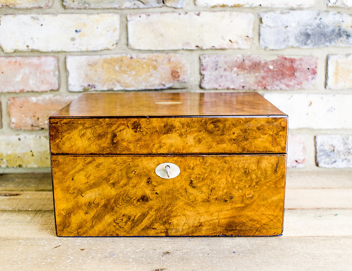 Walnut Vanity Box c.1860 SOLD