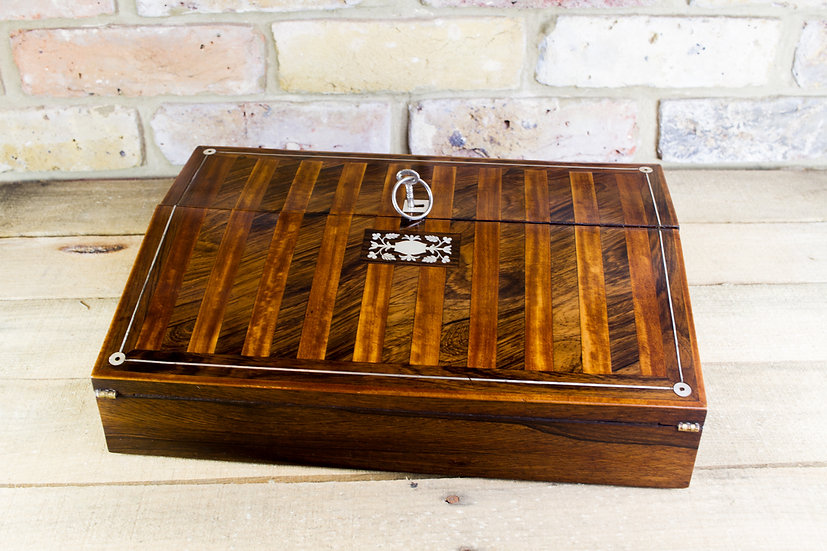 Rosewood and Satinwood Lap Desk c.1830 SOLD