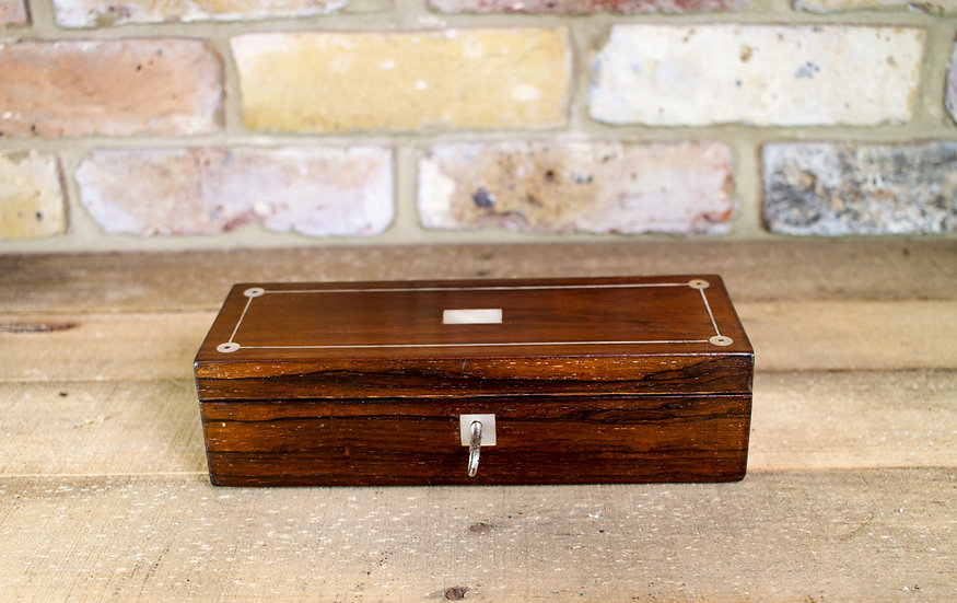Rosewood and Mother of Pearl Table Box