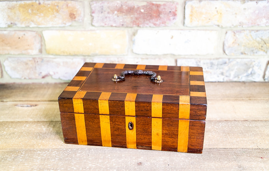 Rosewood & Satinwood Striped Box c.1890 SOLD