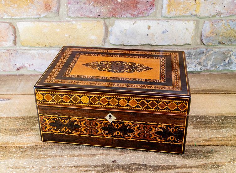 Stunning Tunbridge Ware Table Box c.1840 SOLD