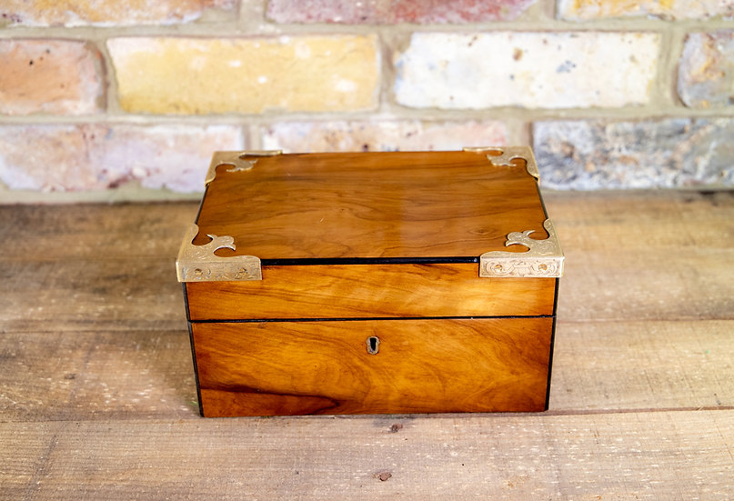 Olivewood Table Box c1880 SOLD