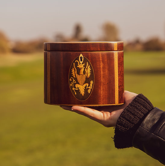 A stunning Oval mahogany Tea Caddy SOLD