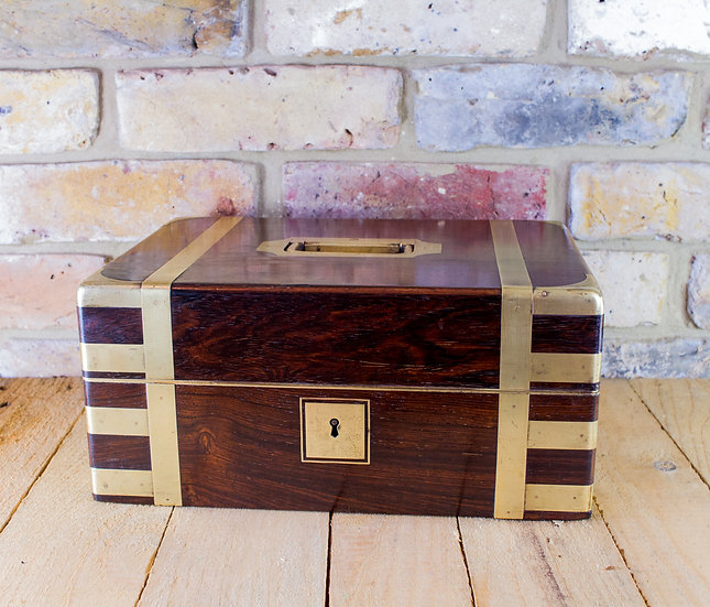 Rosewood Brass Bound Campaign Box c.1820 SOLD