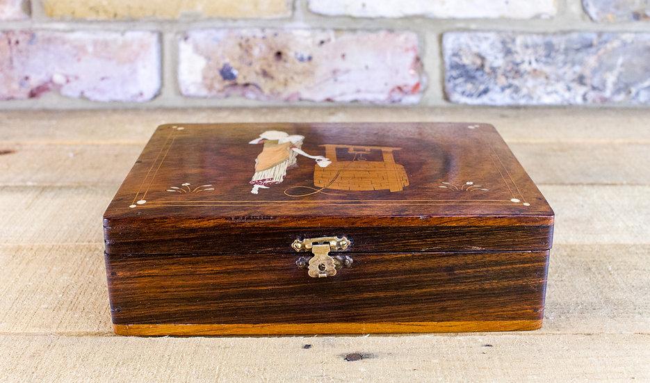 Bone Inlay Rosewood Box c.1920