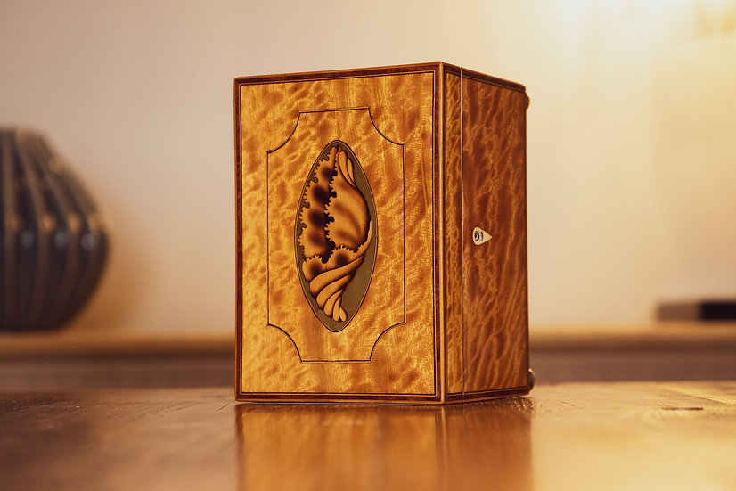 Stunning Georgian Satinwood Jewellery Box RESERVED