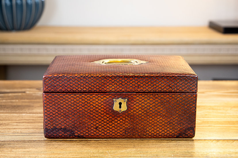 Red Leather Jewellery Box 1900