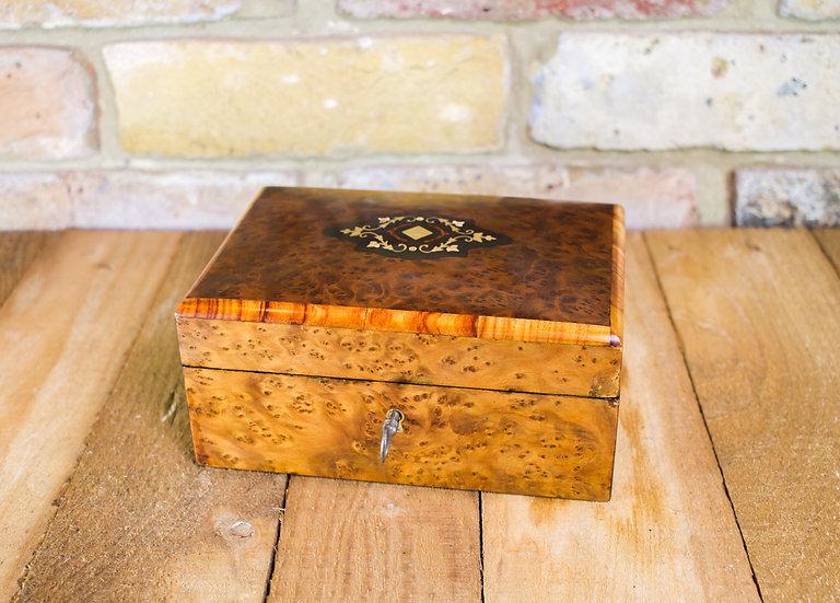 Amboyna Jewellery Box c.1880 SOLD