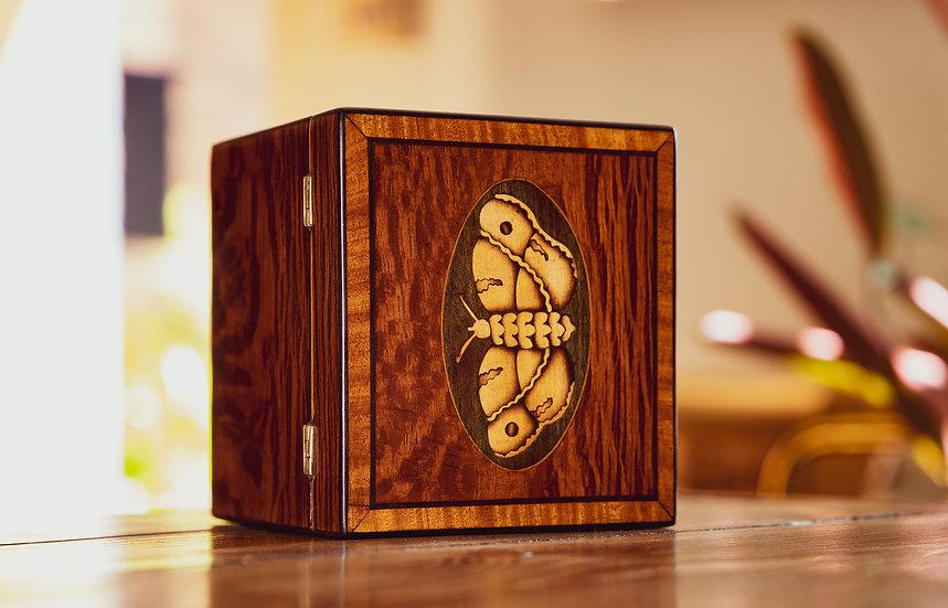 Stunning Partridge Wood Moth Inlaid Georgian Tea Caddy SOLD