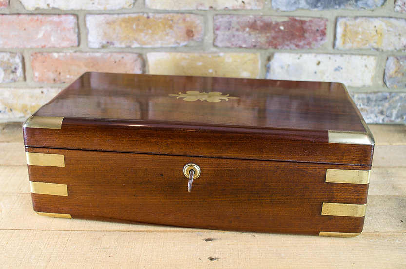 Campaign Mahogany Writing slope c.1810 SOLD