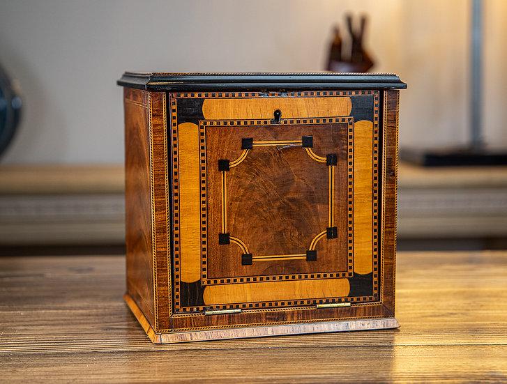 Stunning Inlaid Jewellery Cabinet 1850 SOLD