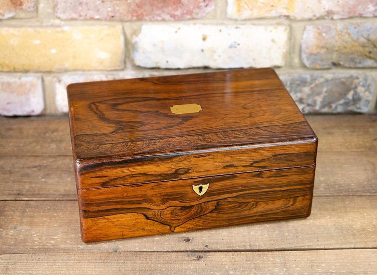 Rosewood Ladies Box Victorian 1840 SOLD
