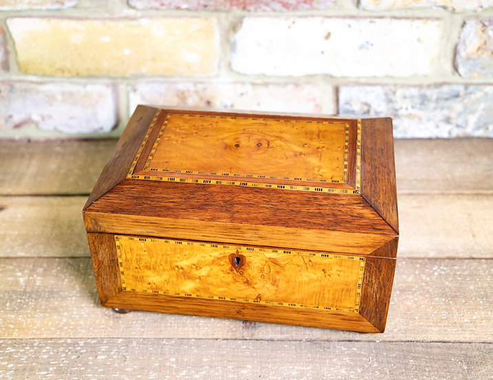 Rosewood & Birds Eye Maple Jewellery Box SOLD