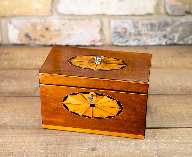 Sheraton Mahogany Tea Caddy 1790 SOLD