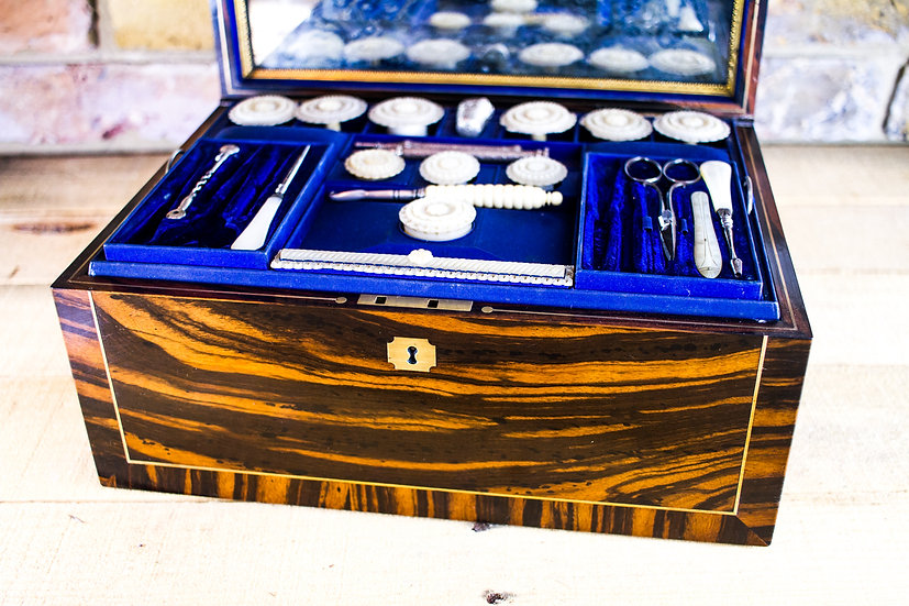 Top Quality Sewing Box c.1850 SOLD