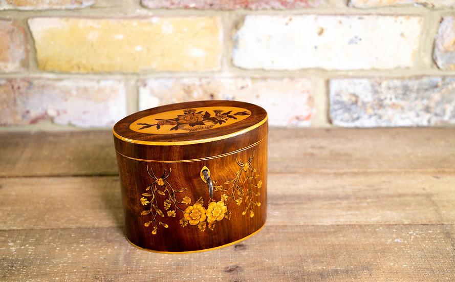 Floral Inlaid Georgian Tea Caddy 1790 SOLD