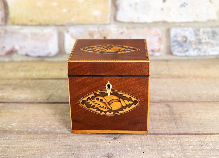 Single Mahogany Georgian Tea Caddy 1800 SOLD