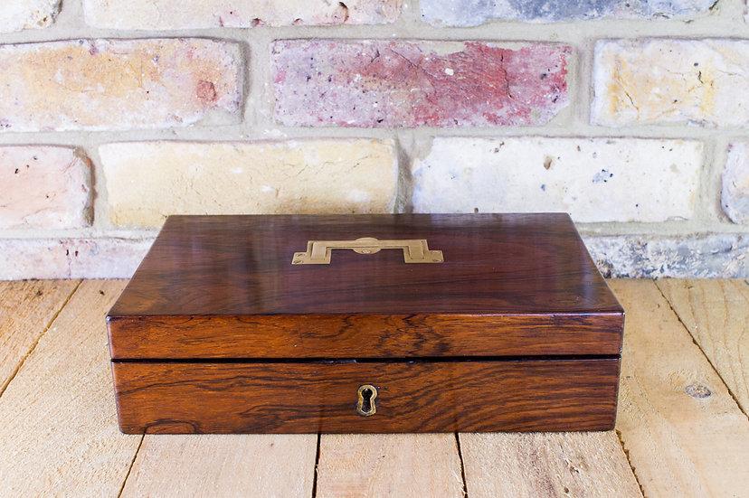 Rosewood Pistol Box c.1820 Empty SOLD