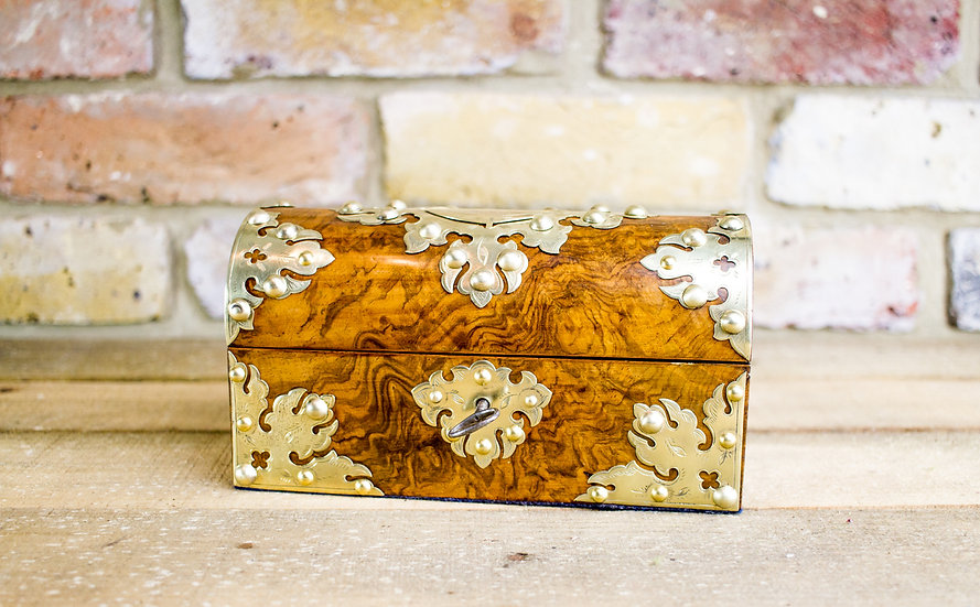Burr Walnut Perfume Box c.1890 SOLD