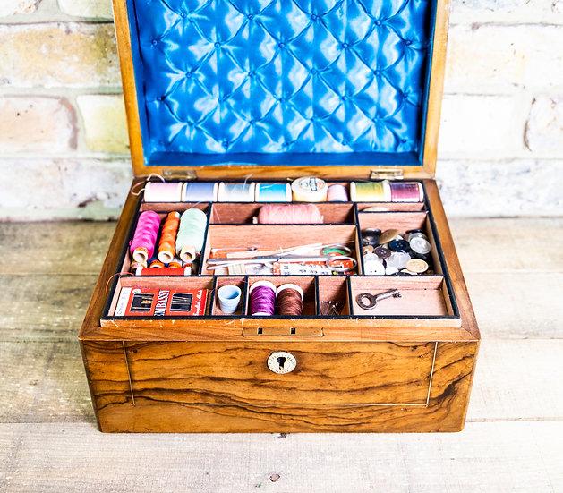 Olive wood Work Box c.1880 SOLD