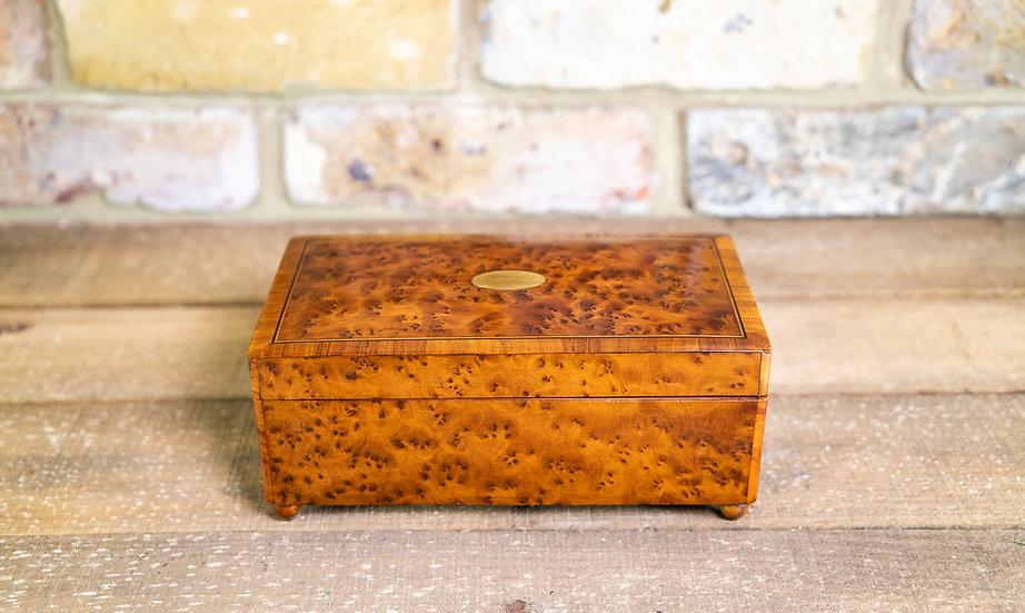 Amboyna Cigar/Music Box c.1920