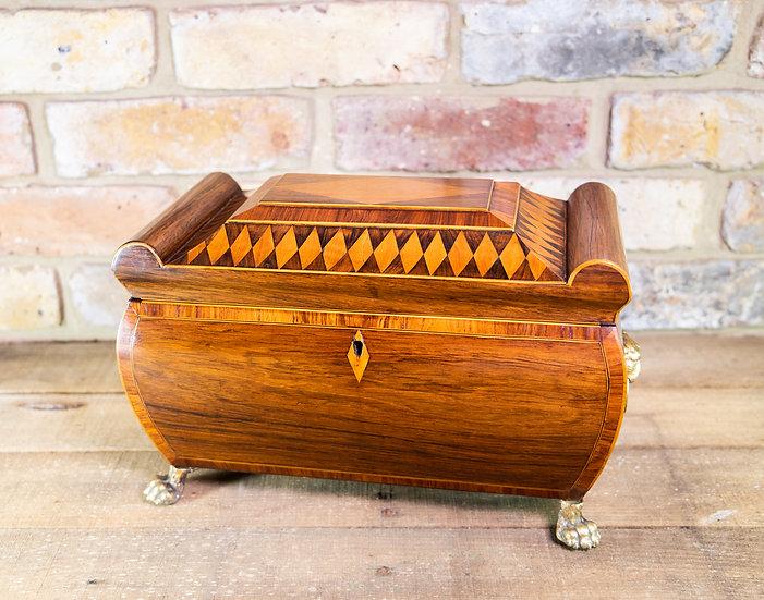 Rare Regency Tea Caddy c.1820 SOLD