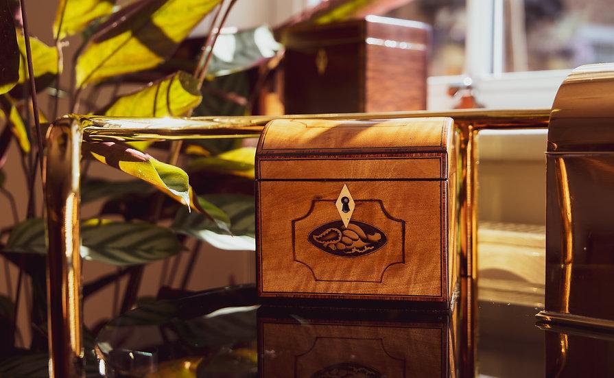 Satinwood Georgian Tea Caddy SOLD