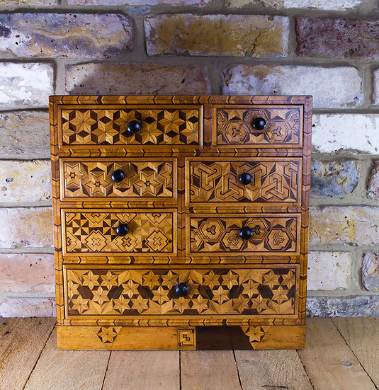 7 Draw Japanese Inlaid Cabinet c.1890 SOLD
