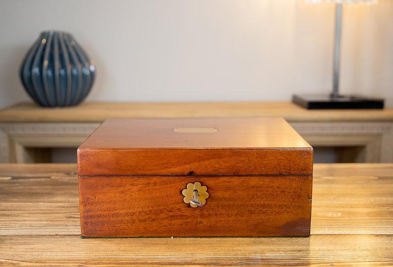 Georgian Mahogany Table Box 1810