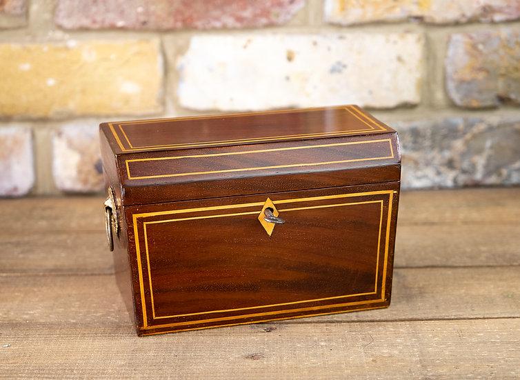 Georgian Flamed Mahogany Box 1810