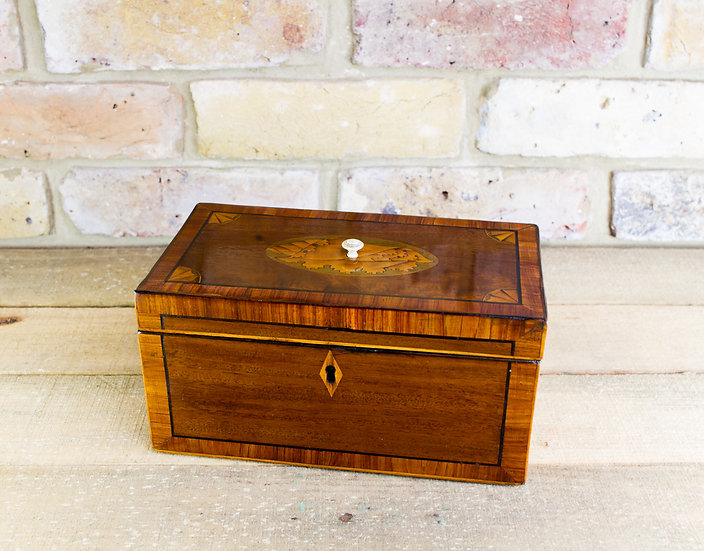 Twin Mahogany Georgian Tea Caddy c.1790 SOLD