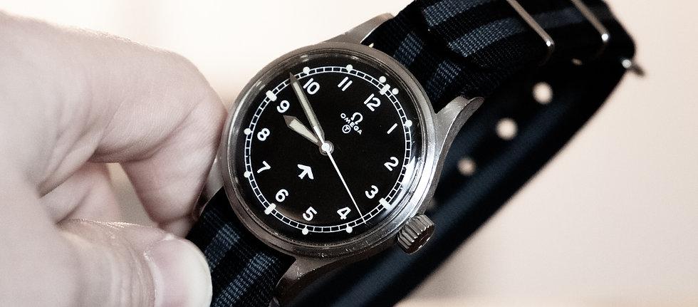 "Rare Omega 53 ""Fat Arrow"" Military Watch"