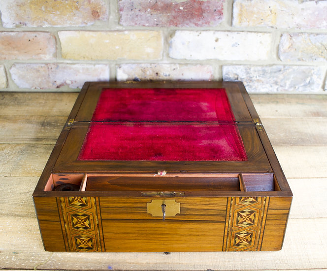 Figured Walnut Writing Slope c.1880 SOLD